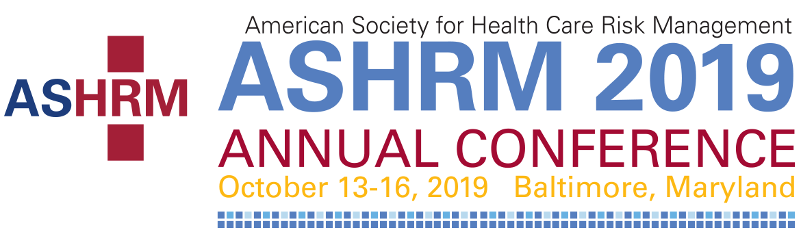 ASHRM American Society for Healthcare Risk Management 2019 logo